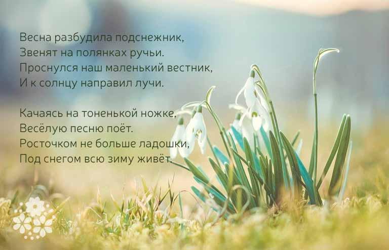 стихи про подснежники русских поэтов