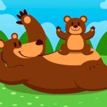 Он тайги хозяин строгий, любит спать зимой в берлоге. Загадки про медведя для детей
