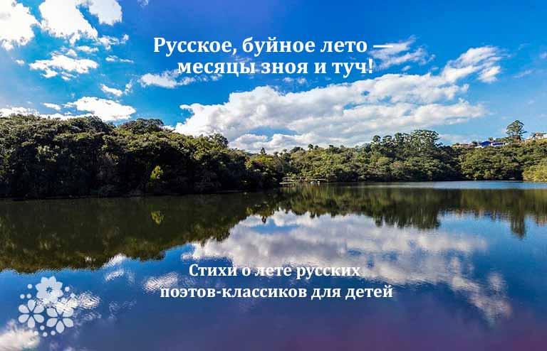 стихи о лете русских поэтов