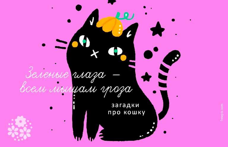Загадки про кошку для детей
