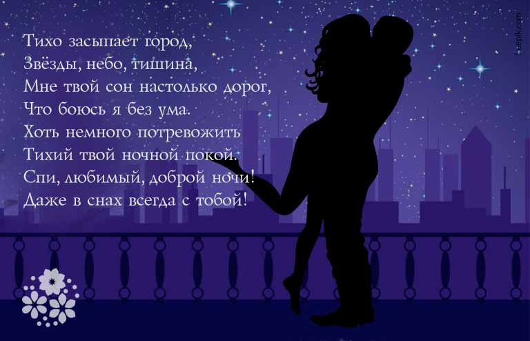 спокойной ночи любимому своими словами смс