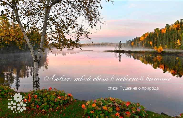 Стихи Пушкина о природе