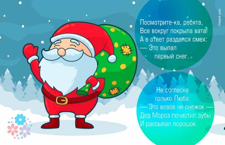Смешные, шуточные стихи на Новый год для детей