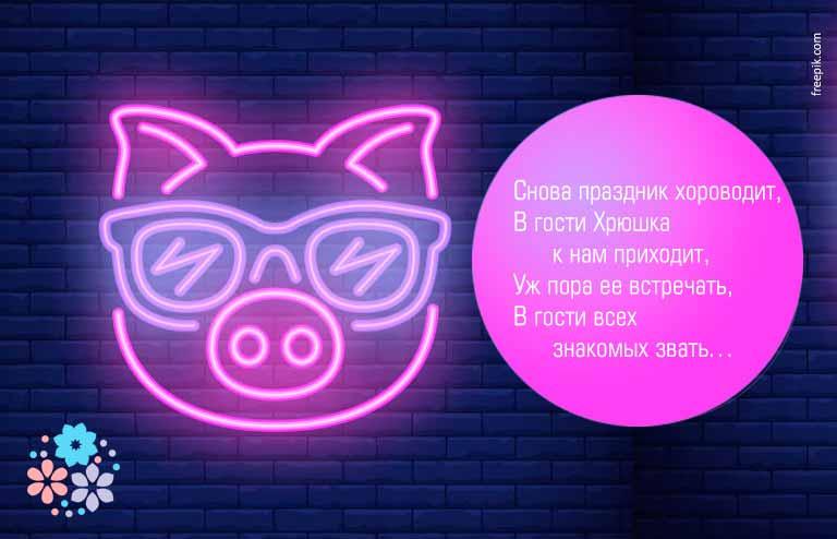 Стихи на Новый 2019 – год свиньи