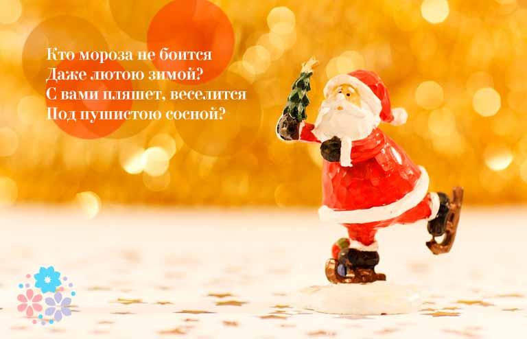 Загадки про Деда Мороза для детей5-6 лет
