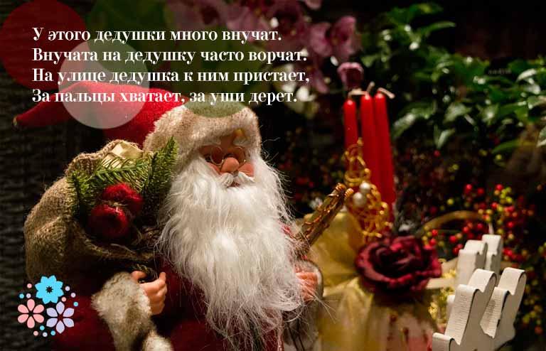 Загадки про Деда Мороза для детей начальной школы