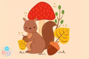 Рыжий маленький зверек по деревьям прыг да скок! Загадки про белку