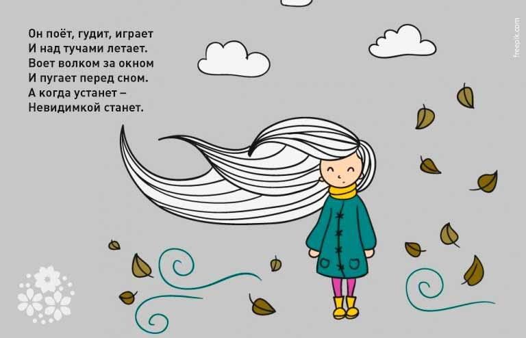Загадки про ветер для детей 1-2-3 класса