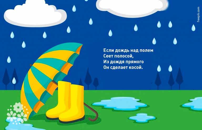 Загадки про дождь и ветер