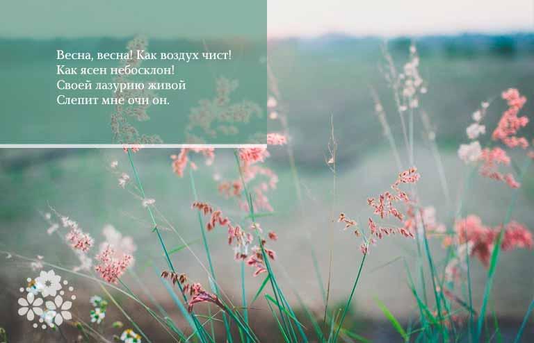 Стихи Тютчева о весне