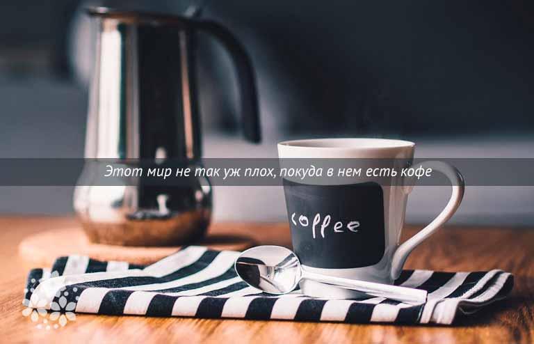 Короткие цитаты и афоризмы про кофе