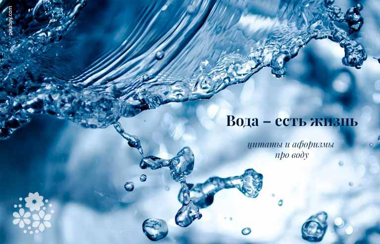 Цитаты и афоризмы про воду