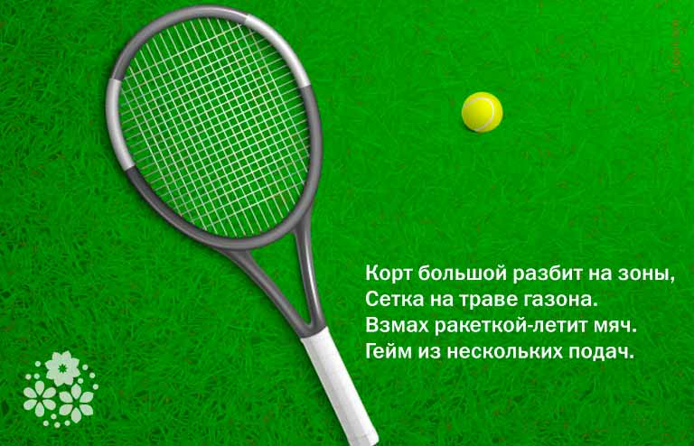 Загадки про ракетку и мячик