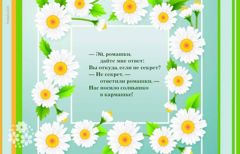 Стихи про цветы для детей 5-6 лет