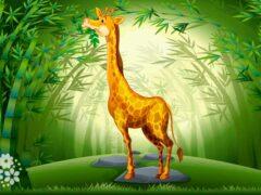 Этот зверь, как дядя Степа свысока глядит на всех! Загадки про жирафа для детей