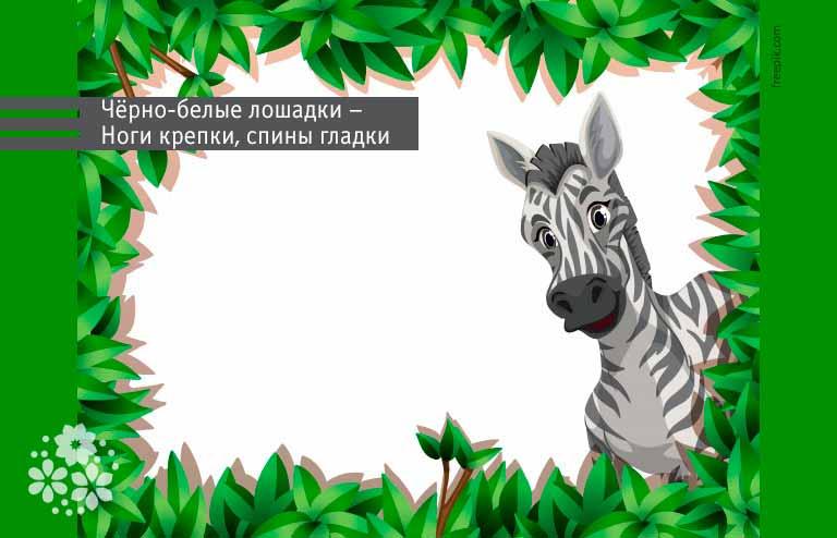 Загадки про зебру для детей 5-6 лет