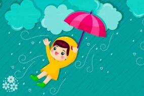 Долговязый Тимошка бежит по дорожке. Загадки про дождь для детей