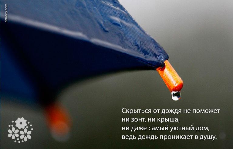 Есть в дожде откровенье
