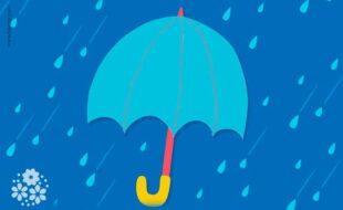 Он защитит в дождливый день, а в солнечный подарит тень. Загадки про зонт для детей